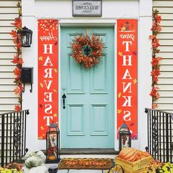 Thanksgiving Decorations Banner Happy Harvest & Give Thanks