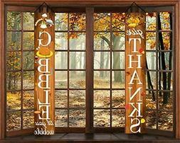 Thanksgiving Porch Sign-Fall Thanksgiving Decorations Outdoo