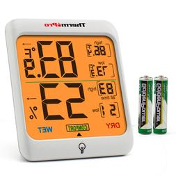 ThermoPro TP53 Digital LCD Indoor Hygrometer Thermometer Roo