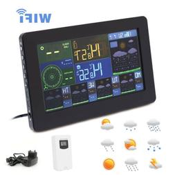 WiFi Weather Station Thermometer Clock Digital Indoor Outdoo